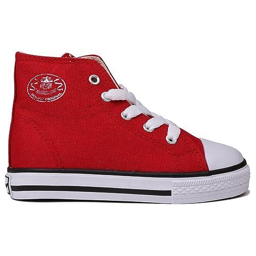 fa858017d82c8 Dunlop Kids Childrens Junior Footwear Infant Canvas High Top Trainers Red  C8 (25.5): Amazon.ca: Shoes & Handbags