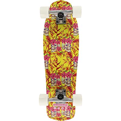 "Aluminati Skateboards Skulls Mullet Cruiser Complete Skateboard - 8.12"" x 28"" : Sports & Outdoors"