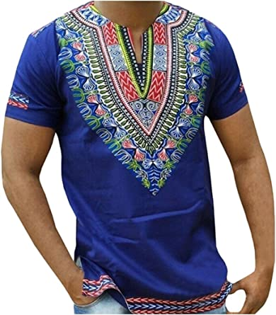 Hombres Tribal Africana Dashiki T-Shirt Plus Size Tops Hipster Hip Hop: Amazon.es: Ropa y accesorios