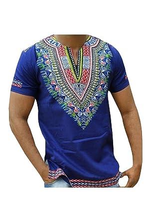 c6e69313b Zonsaoja Men's African Tribal Dashiki T-Shirt Plus Size Hipster Hip Hop Tops:  Amazon.co.uk: Clothing