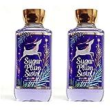 Set of 2 Bath and Body Works Sugar Plum Swirl Shower Gels 10 Ounce Each 2016 Holiday Series