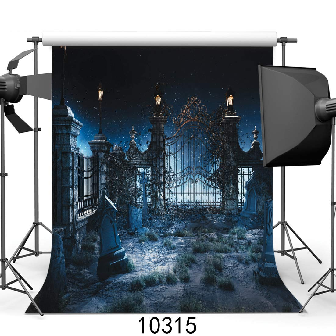 SJOLOON Halloween Night 10' x 10' Computer Printed Photography Backdrop Halloween Theme Photo Background JLT10315 by SJOLOON (Image #1)