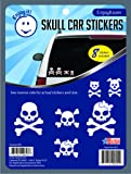 Enjoy It Skull Car Stickers, 8 pieces, Outdoor Rated Vinyl Sticker Decals