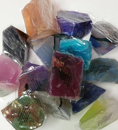 Soap Rocks Set, 6 Piece Palm Stones Random Variety Pack Bundle, TS Pink