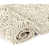 Cream Bath Mat Soft Shaggy Bathroom Rugs Rugs Luxury Microfiber Washable Bath Rug for Floor Bathroom Bedroom Living Room…