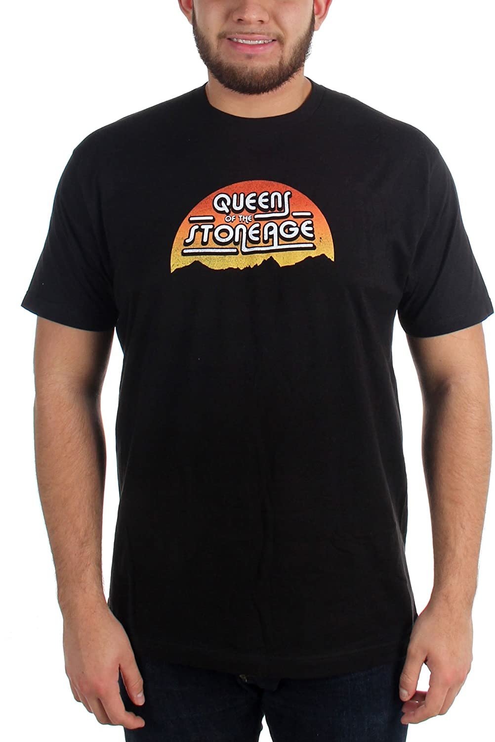 Queens of the Stone Age - Mens The Sunset Fitted T-Shirt in Black