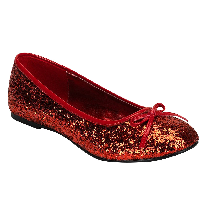 Funtasma STAR-16G womens Flats Shoes B074F49JRN 12 B(M) US Red Glitter