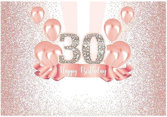 Allenjoy Rosegold Pink 30th Happy Birthday Party Kamera