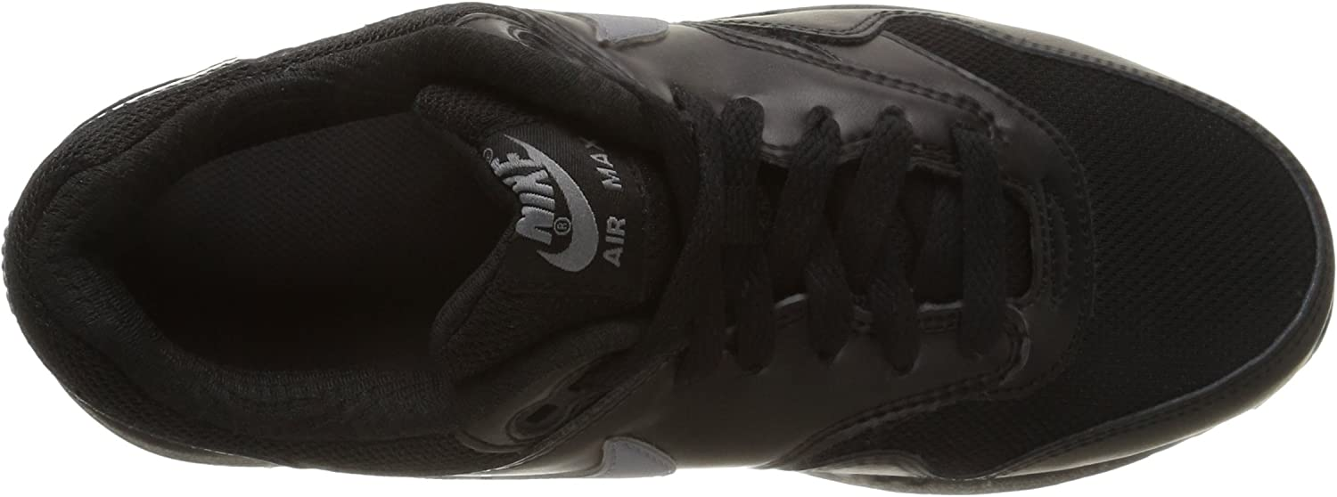 Nike Air Max 1 (GS), Basses Homme Black Cool Grey White