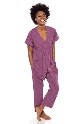 83e8221a99 Women s Short Sleeve PJ Set - PJs in Bamboo Viscose by Texere (Sweet  Paradise) at Amazon Women s Clothing store