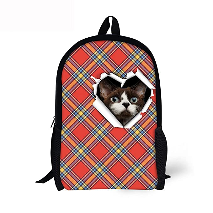 d172893937 Image Unavailable. Image not available for. Color  Cute Hamster School Book  Bag Holes Sack Printing Casual Backpacks for Children
