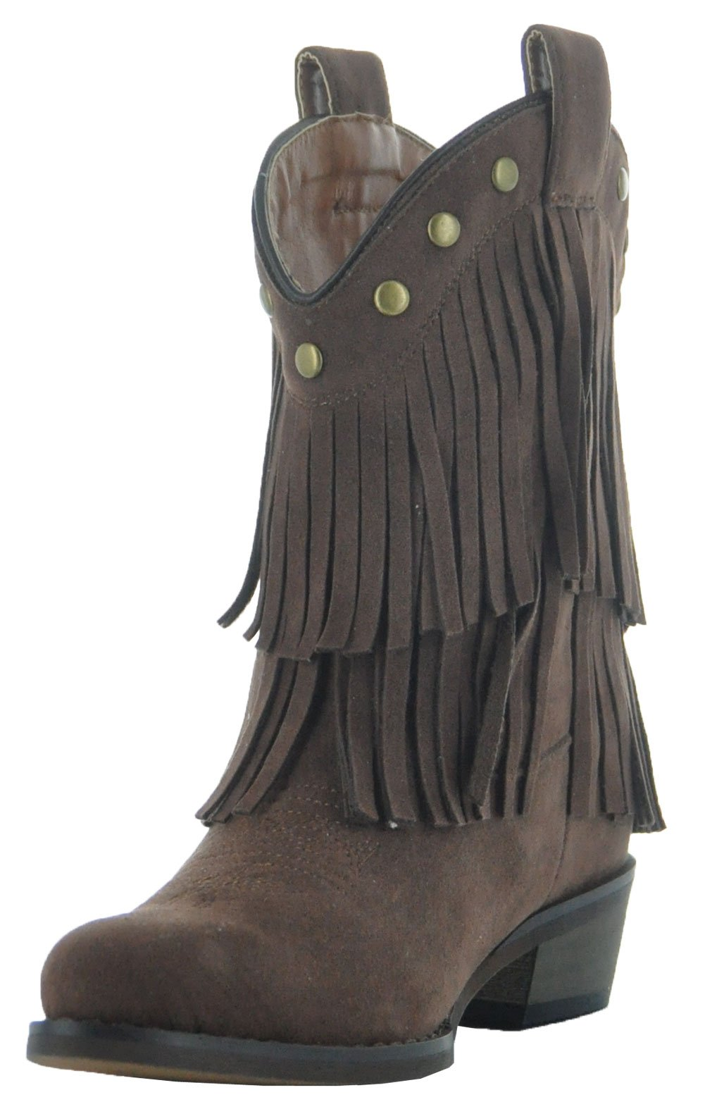 Little Kids Fun Fringe Brown Cowgirl Boots by Country Love Boots (1 Little Kids, Brown) by Country Love Boots (Image #6)