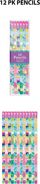Includes Pencils Journals Rabbit Happy Pack Rainbow Unicorn Set Eraser and Sharpener Mr