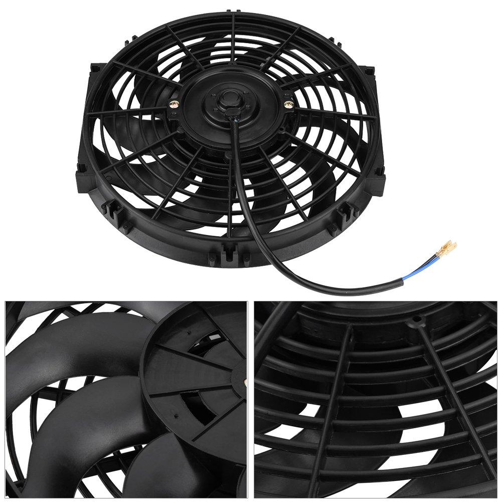 Universal 12/pouces Ventilateur /électrique Moteur Ventilateur Refroidisseur Ventilateur pour voiture en ABS et acier 12/V 80/W