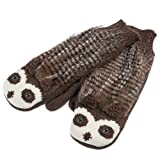 Brown Porcupine Warm and Soft Knit Critter Mittens