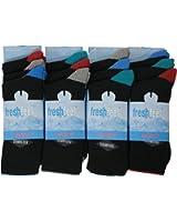 12 Pairs Mens Fresh Feel Cotton Rich Cushion Sport Socks M10763