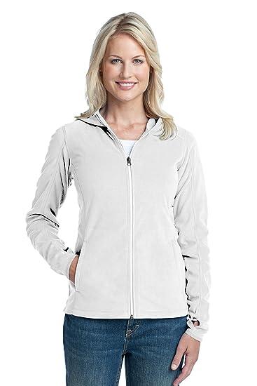 bb19d6c81d4d Amazon.com  Port Authority Women s Microfleece Hoodie L White  Clothing