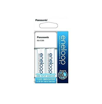Panasonic eneloop - Cargador Micro USB para 2 Pilas Ni-MH AA ...