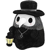 DIIIBARLORY Fluffy Plague Doctor, Plague Doctor Glowing Doll Decoration, Plague Beak Doctor Plush Doll,Fluffy Plague…