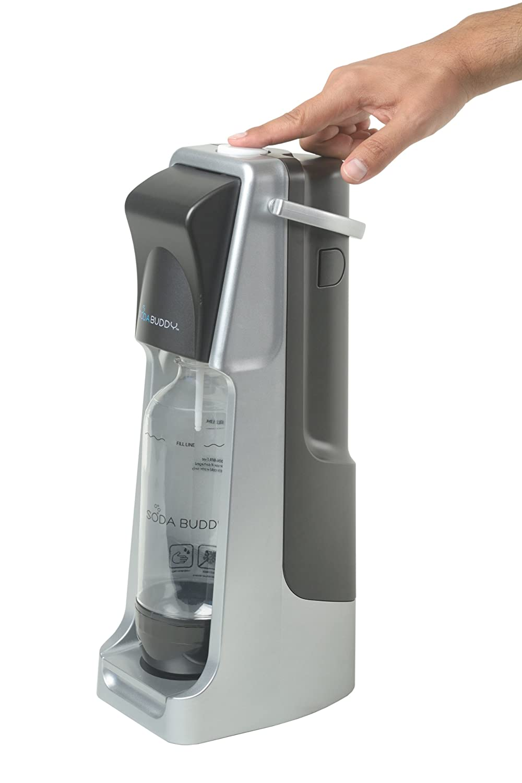 Soda Buddy Home Soda Maker Starter Kit, Black and Silver SBWJS18CO2-SB