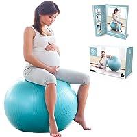 BABYGO Födelsemånad boll graviditet graviditet arbete och yogaboll med 40-sidig träningsbok, födelse och…