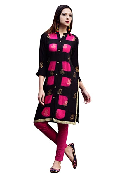 81ea1d48545 Vihaan Impex Indian Kurtis for Women Kurti Kurtas for Women Bust Size 42  Inches Multicolor Kurti