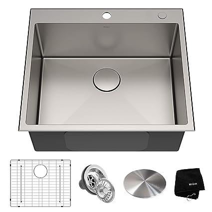 Amazon.com: Kraus KTM32 - Fregadero de cocina de acero ...