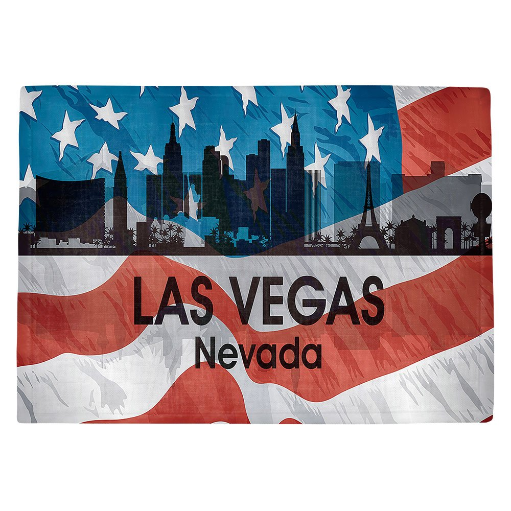DIANOCHEキッチンPlaceマットby Artist Angelina Vick – City VI Las Vegas Nevada Set of 2 Placemats PM-AngelinaVickCityVILasVegasNV1 Set of 2 Placemats  B01N8OWLYN