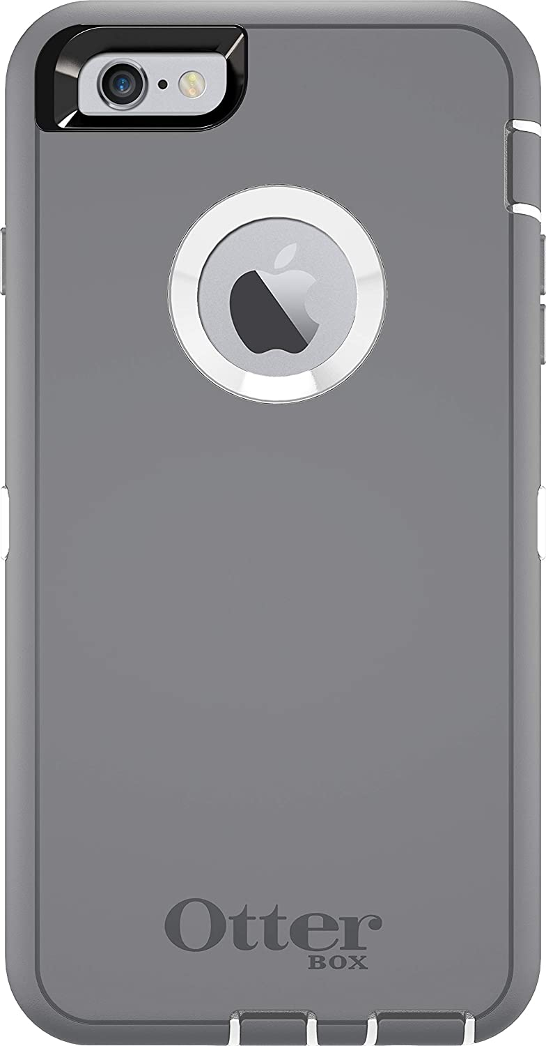OtterBox Defender Series Case for iPhone 6s PLUS & iPhone 6 PLUS - Case Only - Non-Retail Packaging - Gunmetal Grey / White