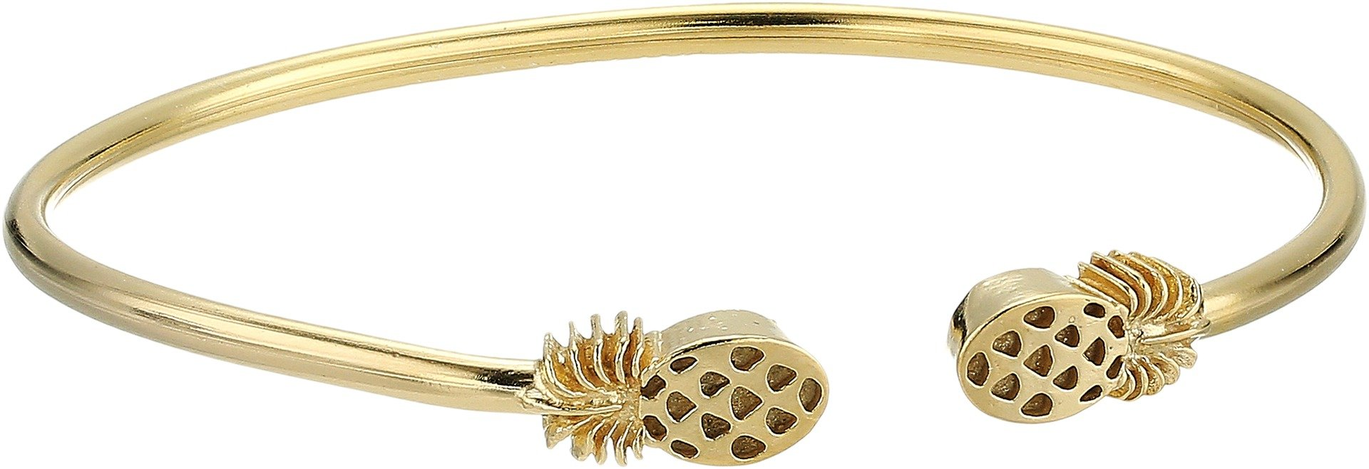 Alex and Ani Women's Pineapple Cuff Bracelet 14kt Gold Plated One Size