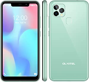 OUKITEL C22 Unlocked Cell Phones (2021 New) 128GB/4GB Android 10 Unlocked Smartphones with 256GB Expandable 5.86'' 4000mAh Face ID + Fingerprint GSM 4G LTE Dual Sim International Version