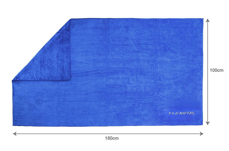 de secado r/ápido senderismo yoga azul color morado camping extragr Toalla de playa de microfibra Flexifoil toallas de microfibra livianas deportes nataci/ón ideal para viajes en coche pilates gimnasio el mejor pelo de ba/ño