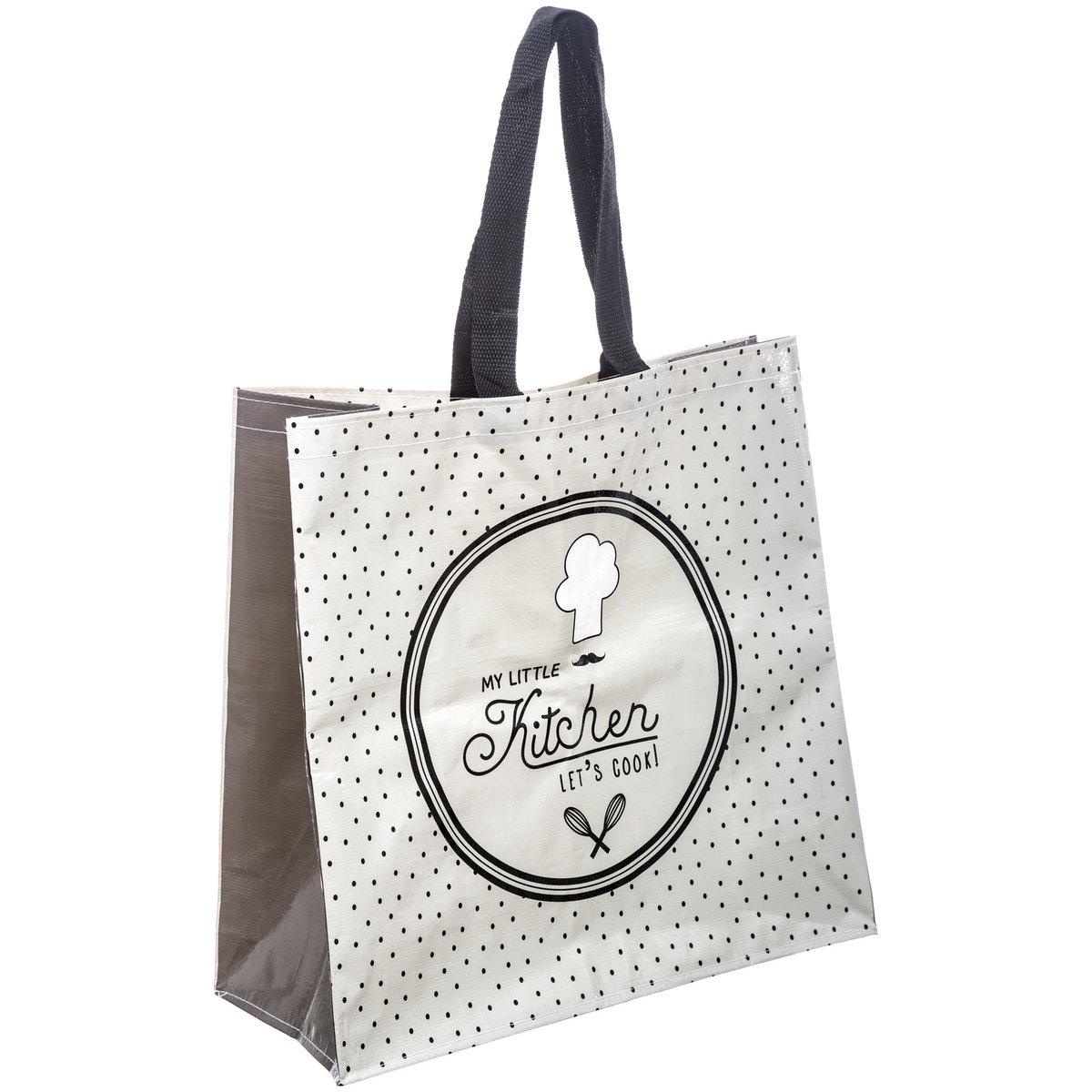 Sac Pour Course Shopping Cabas Vintage Little Kitchen Blanc Promobo
