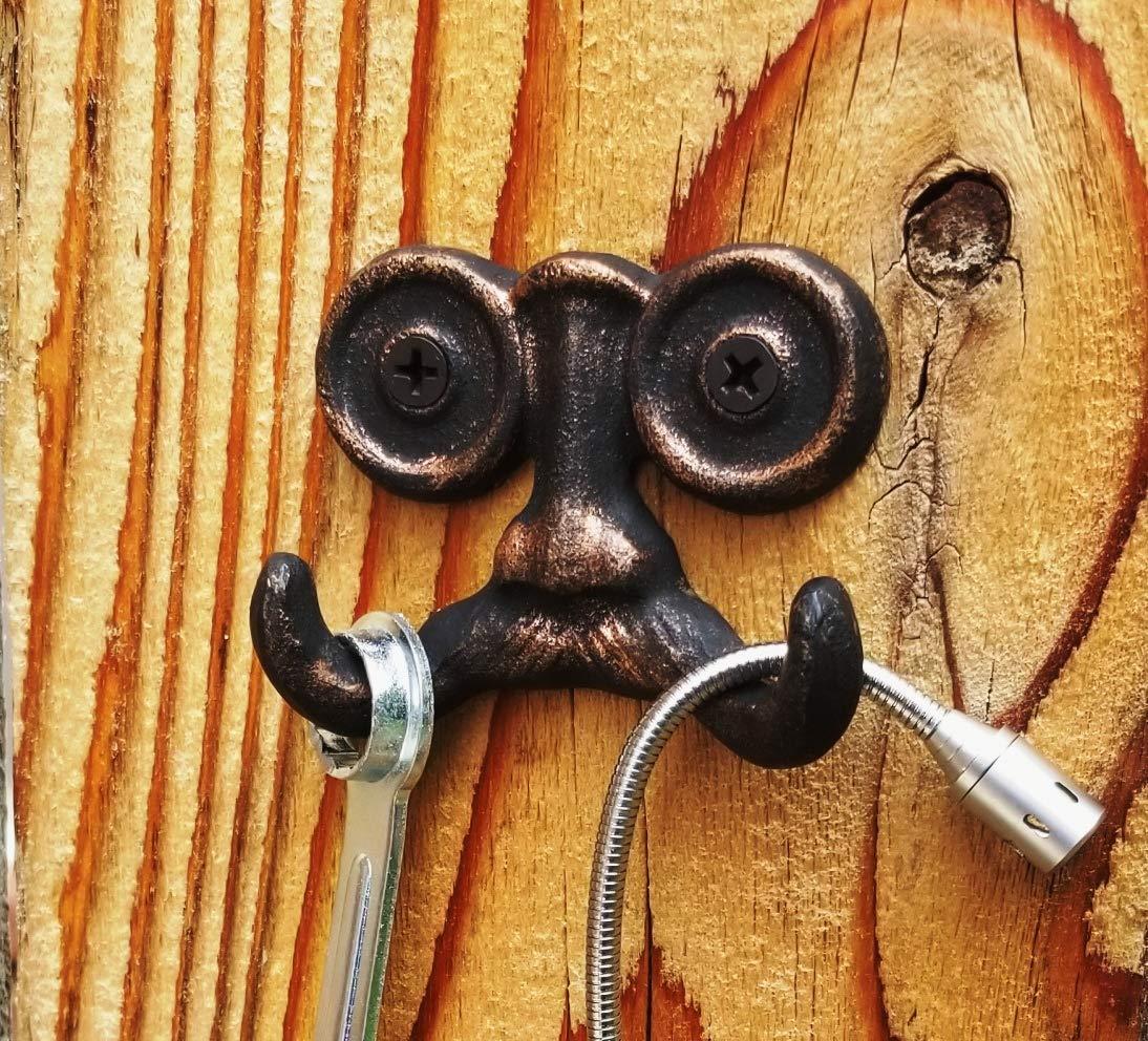 Amazon.com: Gancho de pared de hierro fundido resistente con ...