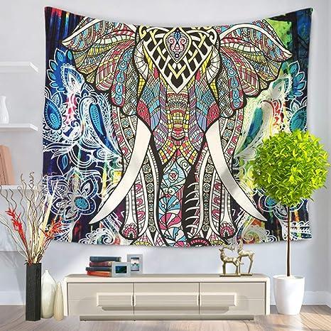 jzxjzx Tapiz de Elefante Pintado Tapiz de Pared Toalla de ...
