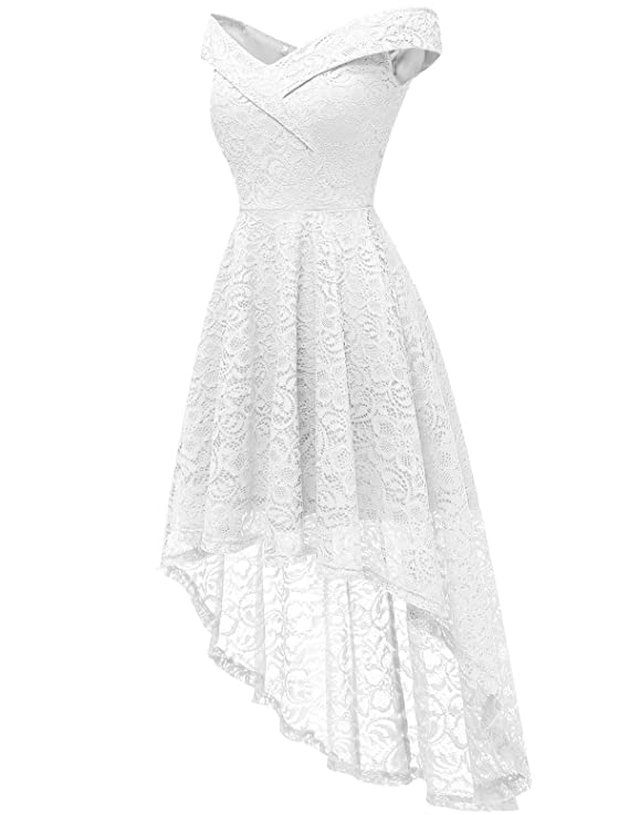 Soirée Pour Elegante Pin Low Vintage Robe Bal Réunoin Femme Cocktail Fête High Jupe Homrain Mariage Asymétrique Up ikTXOuPZ