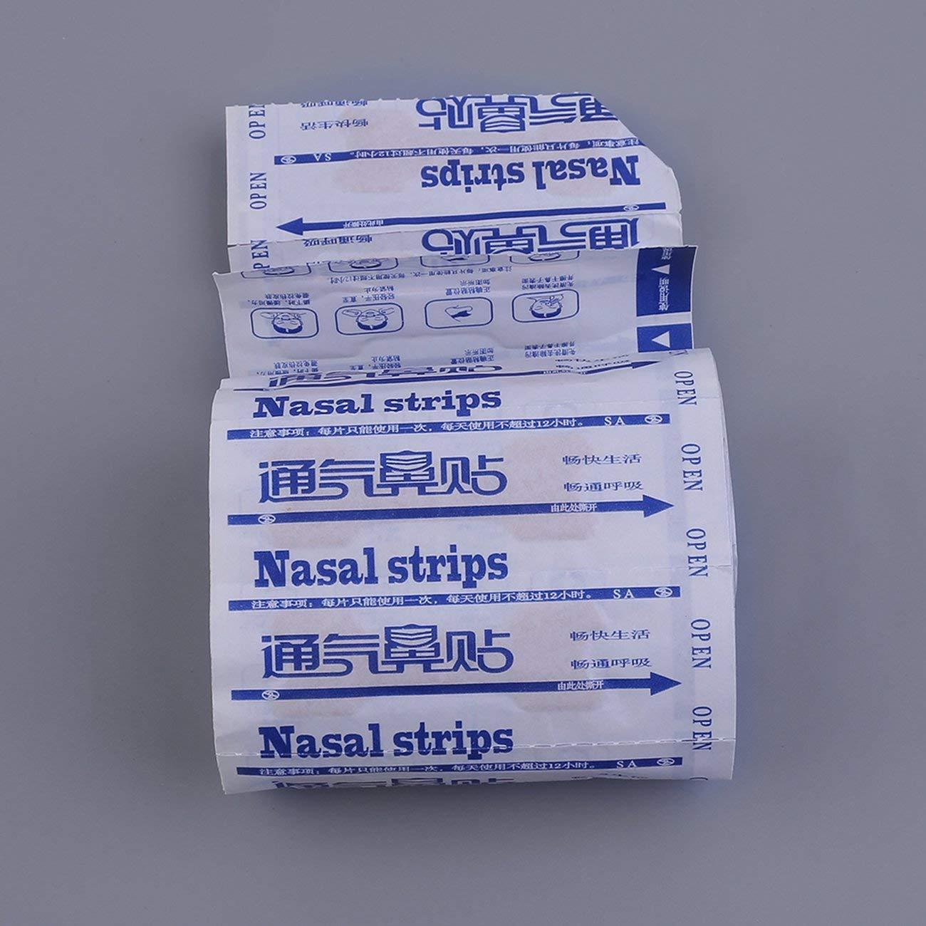 1 juego de respiraci/ón Tiras nasales para dejar de roncar Tiras antirronquidos Parche Mejorar Respirar Dormir Cuidado de la salud para hombres Mujeres JBP-X