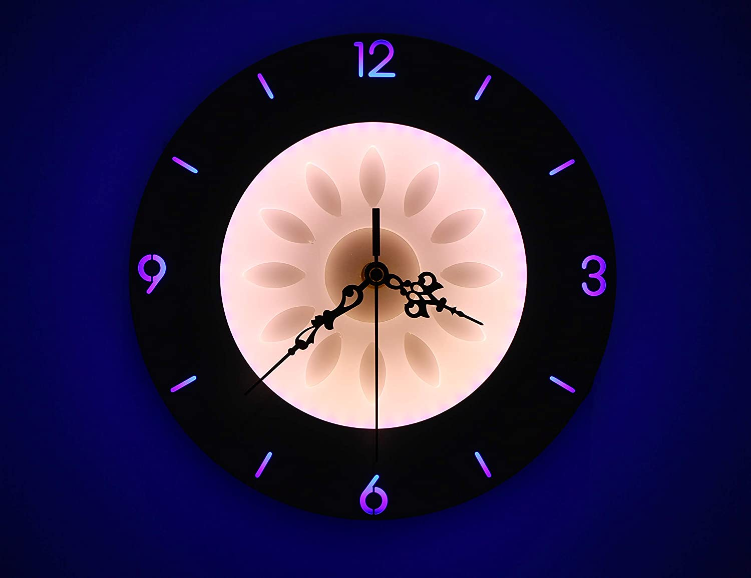 Buy Citra Led Light Wall Clock With Yellow And Blue Light Effects Online At Low Prices In India Amazon In