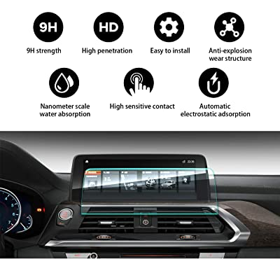 YEE PIN X4 X3 Screen Protector for 2020 G01 X3 M40i 2020 2020 X4 X3 G02 Center Control Touch Screen, Car Navigation Display Glass Protective Film HD Scratch Resistance (10.25-inch)