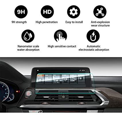 Car Navigation Screen Protector Tempered Glass Compatible