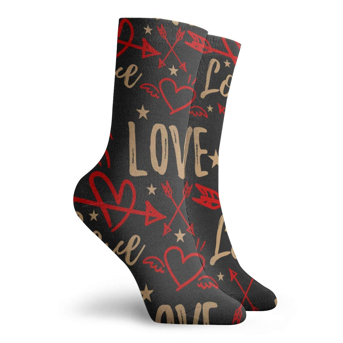 Valentine Unisex Funny Casual Crew Socks Athletic Socks For Boys Girls Kids Teenagers