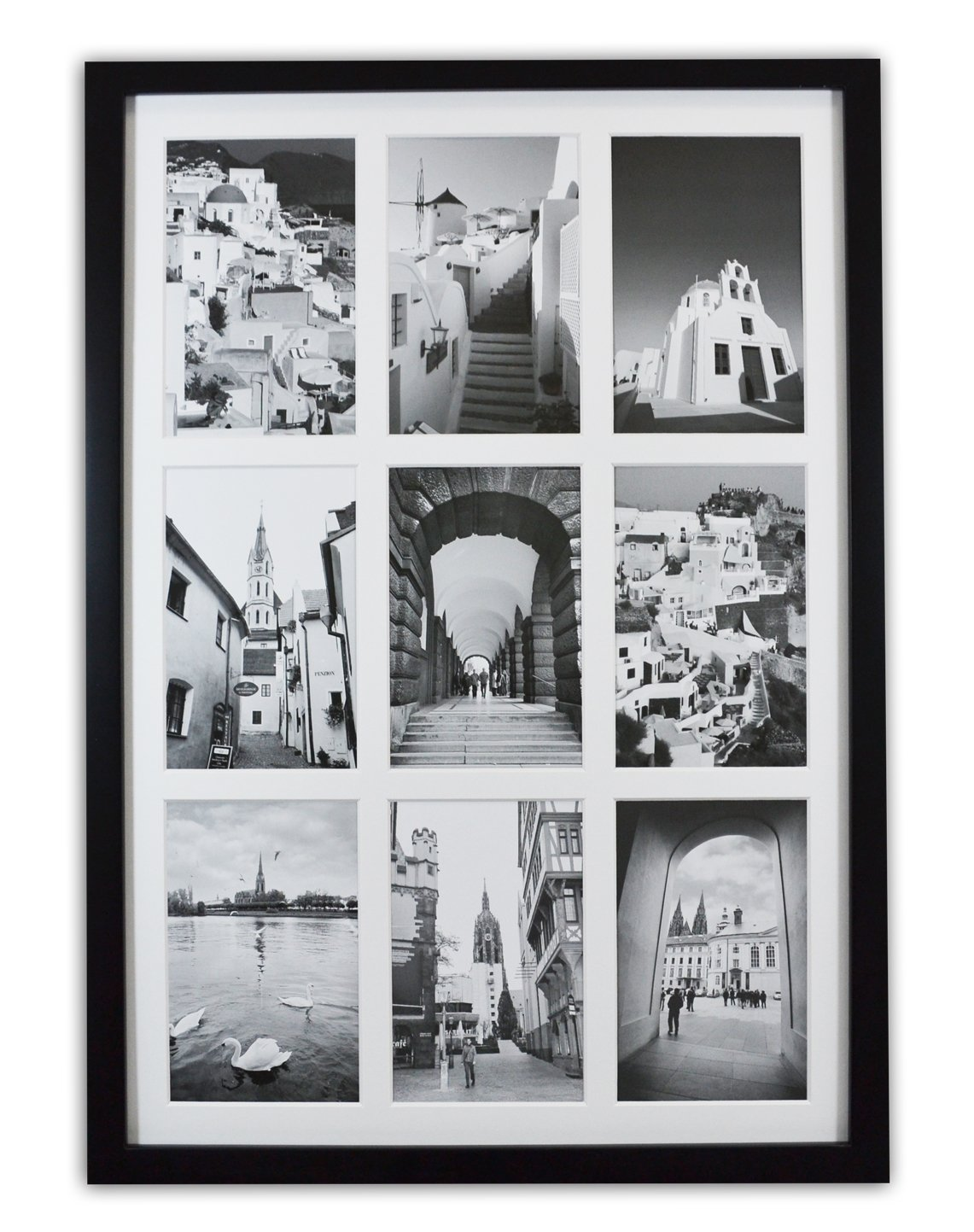 Amazon golden state art 136x197 black photo wood collage amazon golden state art 136x197 black photo wood collage frame with real glass and white displays 9 4x6 pictures arts crafts sewing jeuxipadfo Images