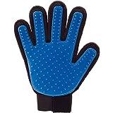 Lalang - Guanto spazzola per animali domestici, per mano destra, blu
