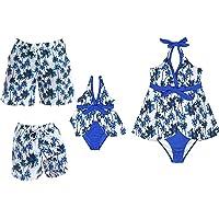 Lazeny Madre e Hija Traje de Baño Mujer Niña Bikini Familia Talle Alto Bañadores con Diadema, Ropa de Playa de Verano…