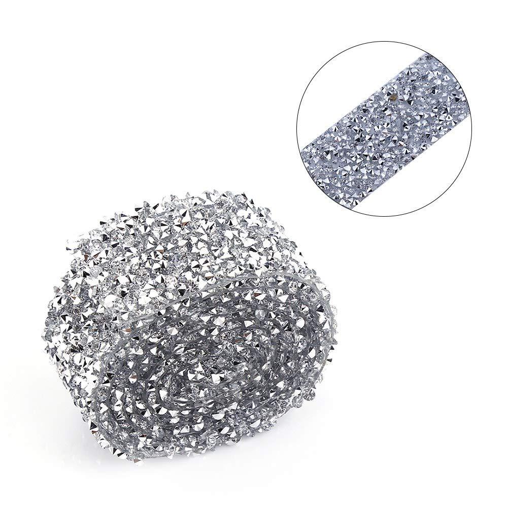 84cm Diamond Wrap Nastro di Strass per DIY Arti e Mestieri//Decorazione Torte//Cerimonia Nuziale//Rifornimenti del Partito Akozon Nastri di Strass 3 Silber Ab Farbe
