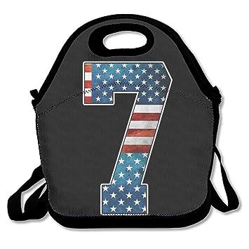 Número 7 cajas de almuerzo almuerzo bolsa para almuerzo caja lonchera con cremallera y correa ajustable para viajes y Picnic escuela: Amazon.es: Hogar