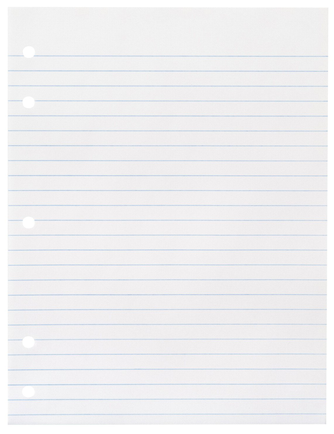 School Smart 5 Hole Punched Notebook Filler Paper Without Margin - 8 x 10 1/2 inches - Ream of 500