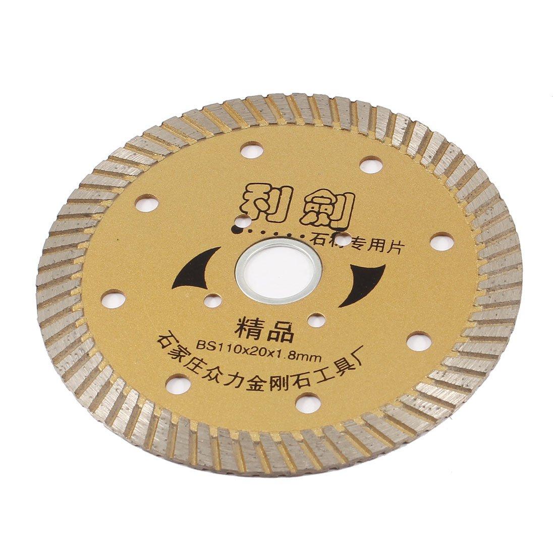 uxcell Bronze Tone Tile Cutting Wheel Diamond Saw Cutter 110mm x 20mm x 1.8mm