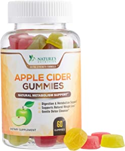 Apple Cider Vinegar Gummies for Natural Weight Support 500mg - Delicious ACV Gummy Vitamin from The Mother - Alternative to Apple Cider Vinegar Capsules, Pills, Tablets - 60 Gummies