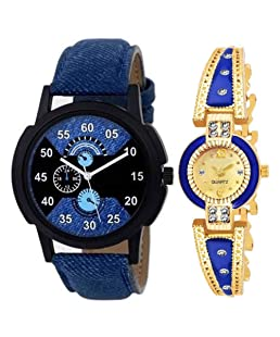 Rustet Combo Stylish Designer Dial Wrist Watch for Boys & Girls Watch - for Couple